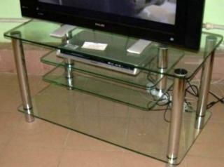 Стеклянная ТВ тумба